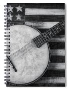 American Banjo Black And White Spiral Notebook