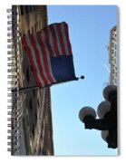 American Flag Downtown La Spiral Notebook
