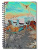 American Indian Home In Abstract Spiral Notebook