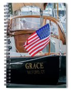 American Pride At The Marina Spiral Notebook
