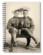 American Soldiers With A Parasol Circa 1915 Spiral Notebook