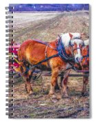 Amish Farming Team Spiral Notebook
