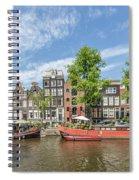 Amsterdam Prinsengracht Houseboats Spiral Notebook