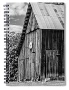 An American Barn Bw Spiral Notebook
