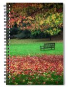 An Autumn Bench At Clyne Gardens Spiral Notebook