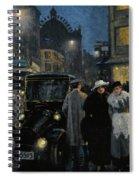 An Evening Stroll On The Boulevard Spiral Notebook
