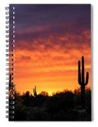 An Orange Glow Fills The Desert  Spiral Notebook
