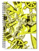 Anchors Above - Icons Below Spiral Notebook