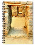 Ancient Windows Aztec Ruins Spiral Notebook