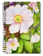 Anemones Birthday Card Spiral Notebook