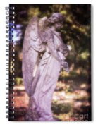 Angel Linen Spiral Notebook