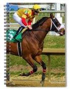 Angel Suarez - Big Boots - Laurel Park Spiral Notebook