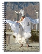Angel Swirling In The Desert Spiral Notebook