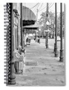 Antique Alley In Black And White Spiral Notebook