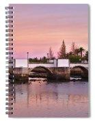 Antique Bridge Of Tavira During Twilight. Portugal Spiral Notebook