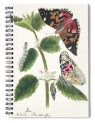 Antique Watercolor Illustration Of Nettle Butterfly In Various Life Stages Published In 1824 By M.p. Spiral Notebook