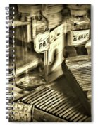 Apothecary-vintage Pill Maker Sepia Spiral Notebook