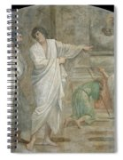 Apparition Of Saint Didacus Above His Sepulchre  Spiral Notebook