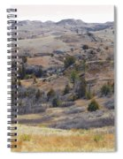 April Badlands Near Amidon Spiral Notebook