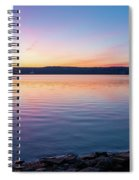 April Dawn On The Hudson River I Spiral Notebook