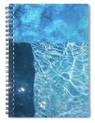 Aqua Agua Abstract Five Spiral Notebook