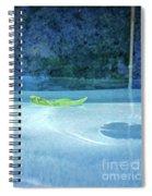 Aqua Agua And Leaf Spiral Notebook