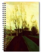 Arable Land Corridors In The Early Spring Spiral Notebook