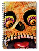 Aranas Sugarskull Of Spiders Spiral Notebook