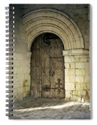 arched door at Fontevraud church Spiral Notebook
