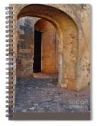 Arches Of A Medieval Castle Entrance In Algarve Spiral Notebook