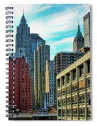 Architecture Nyc From Brooklyn Bridge  Spiral Notebook