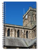 architecture of Hexham cathedral and clock tower Spiral Notebook