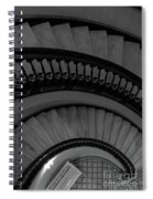 Arlington Stairs Layers Grayscale Spiral Notebook