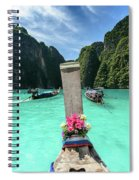 Arriving In Phi Phi Island, Thailand Spiral Notebook