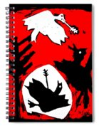 Arrow Shot Bird Spiral Notebook