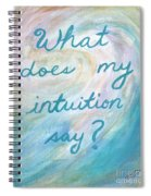 Art Therapy For Your Wall What Does My Intuition Say?  Spiral Notebook