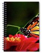 Artistic Monarch Spiral Notebook