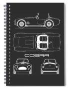 Ac Cobra Blueprint Spiral Notebook