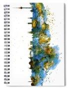 Berlin Watercolor Skyline Spiral Notebook