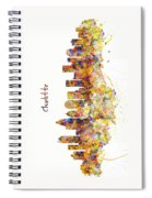 Charlotte Watercolor Skyline Spiral Notebook