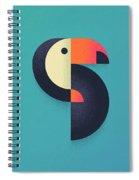 Toucan Geometric - Single Spiral Notebook