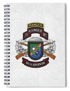 75th Ranger Regiment - Army Rangers Special Edition Over White Leather Spiral Notebook