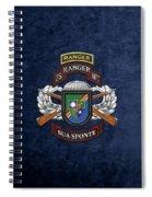 75th Ranger Regiment - Army Rangers Special Edition Over Blue Velvet Spiral Notebook