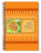 Lion Pair Warm Spiral Notebook
