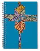 The Abstract Cross Spiral Notebook