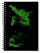 Forest Cover Map Of The Us Spiral Notebook
