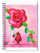 R Is For Rose And Robin Spiral Notebook