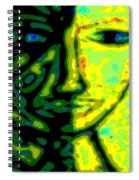Two Faces - Green - Female Spiral Notebook