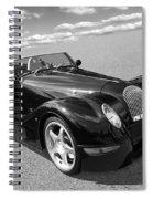 Morgan Aero 8 Black And White Spiral Notebook