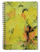 Yellow Blooms Coral Accents Spiral Notebook